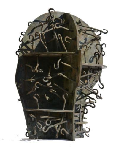 Open Head II, 2015, brass