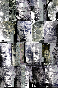 Faces-Facets I, 2008, digital print